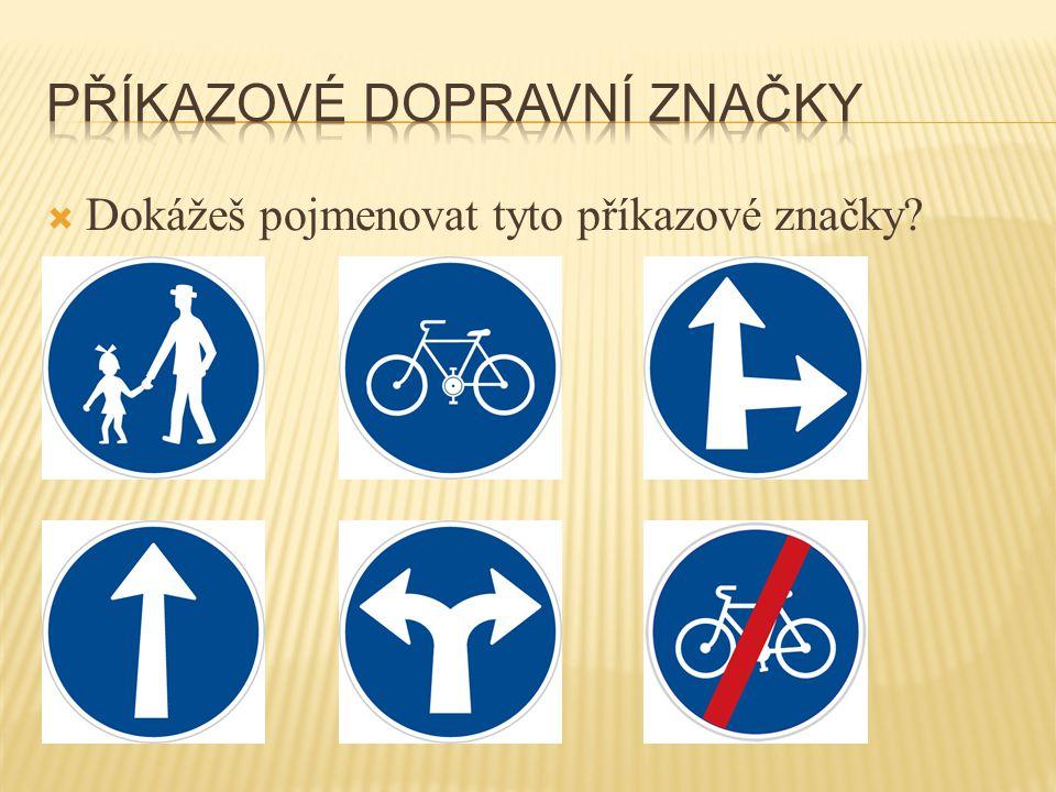  Dokážeš pojmenovat tyto dopravní značky?
