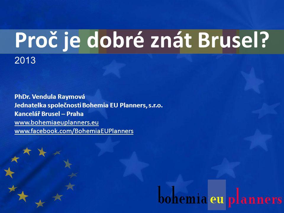 2013 PhDr. Vendula Raymová Jednatelka společnosti Bohemia EU Planners, s.r.o.