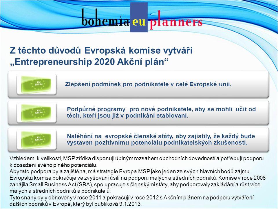 """Z těchto důvodů Evropská komise vytváří """"Entrepreneurship 2020 Akční plán Zlepšení podmínek pro podnikatele v celé Evropské unii."""