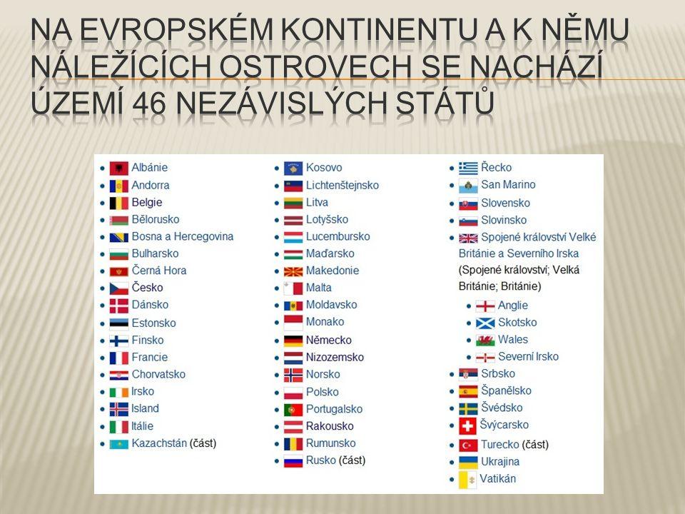  Jednotlivé státy vyhledej v příruční mapě.