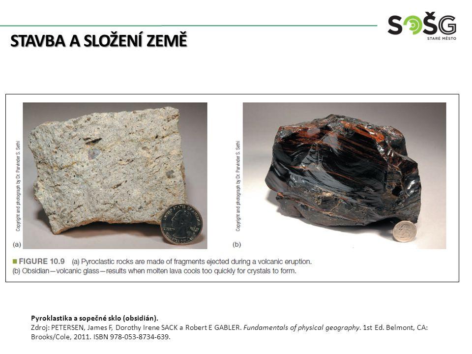 STAVBA A SLOŽENÍ ZEMĚ Pyroklastika a sopečné sklo (obsidián).
