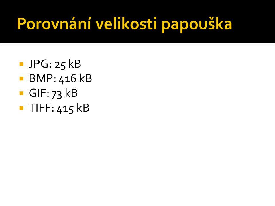 JPG: 25 kB  BMP: 416 kB  GIF: 73 kB  TIFF: 415 kB