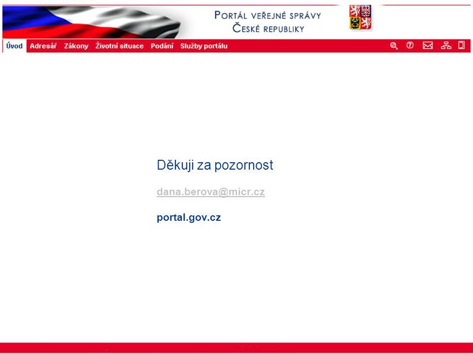 Portál veřejné správy © 2002 IBM Corporation ISSS 2003 Děkuji za pozornost dana.berova@micr.cz portal.gov.cz dana.berova@micr.cz