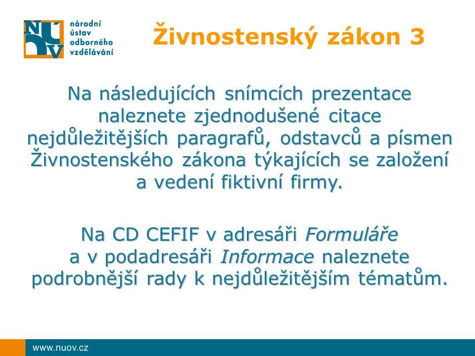 Živnosti řemeslné ČÁST A 1.Řeznictví a uzenářství, 2.