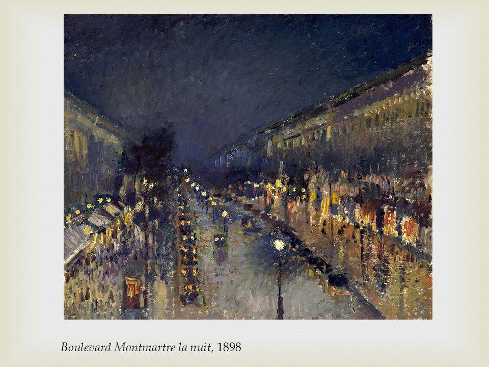 Boulevard Montmartre la nuit, 1898
