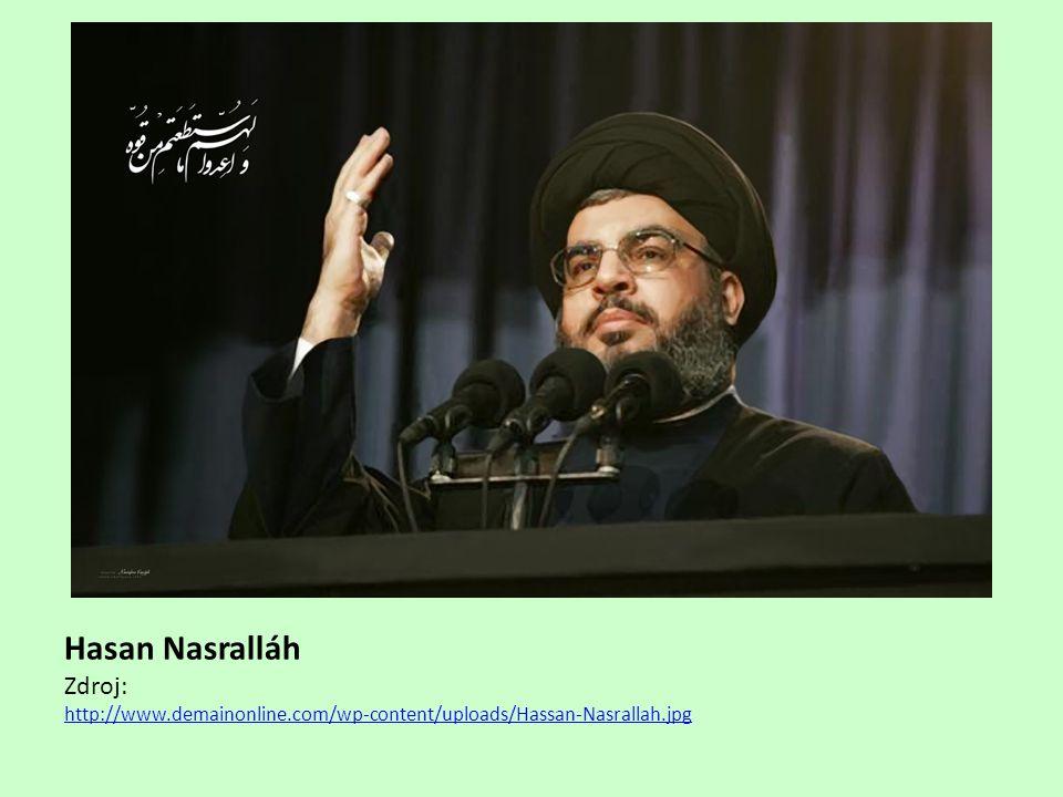 Hasan Nasralláh Zdroj: http://www.demainonline.com/wp-content/uploads/Hassan-Nasrallah.jpg