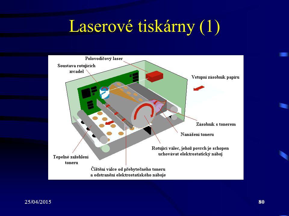 25/04/201580 Laserové tiskárny (1)