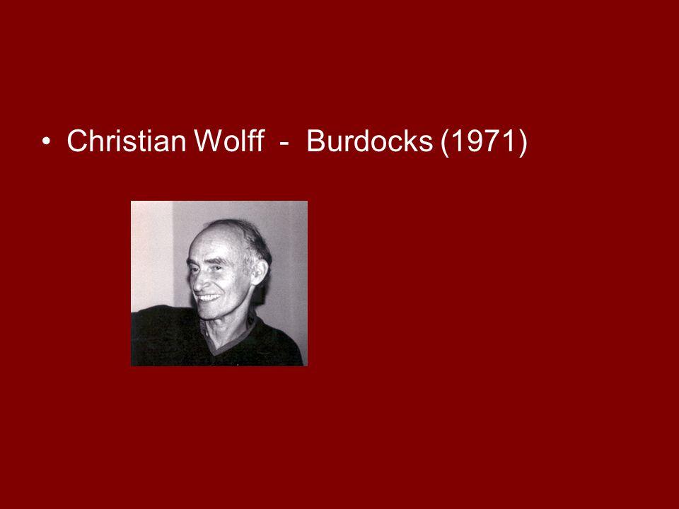 Christian Wolff - Burdocks (1971)
