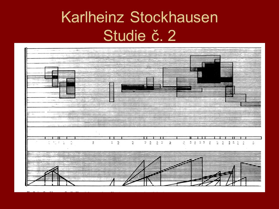 Lineární partitura 1981 Agon orchestra