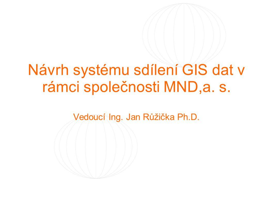 Návrh systému sdílení GIS dat v rámci společnosti MND,a. s. Vedoucí Ing. Jan Růžička Ph.D.