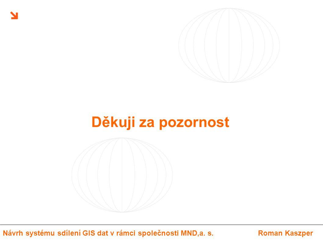 Děkuji za pozornost Návrh systému sdílení GIS dat v rámci společnosti MND,a. s.Roman Kaszper