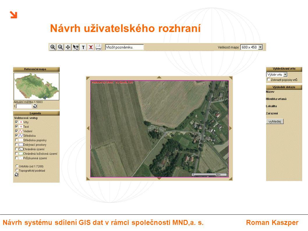 Návrh uživatelského rozhraní Návrh systému sdílení GIS dat v rámci společnosti MND,a. s.Roman Kaszper