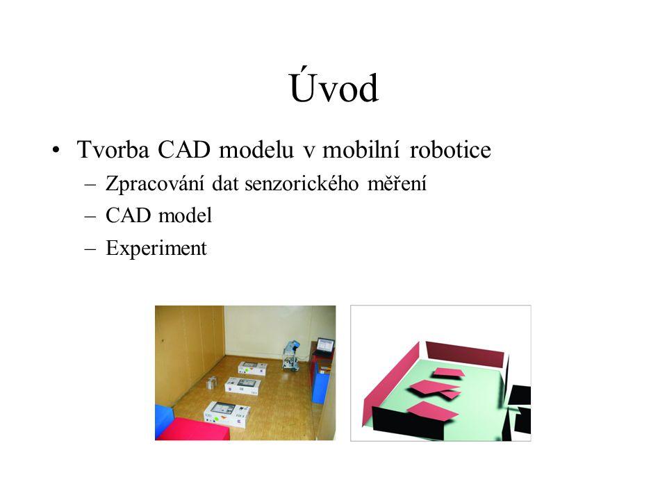 Úvod Tvorba CAD modelu v mobilní robotice –Zpracování dat senzorického měření –CAD model –Experiment