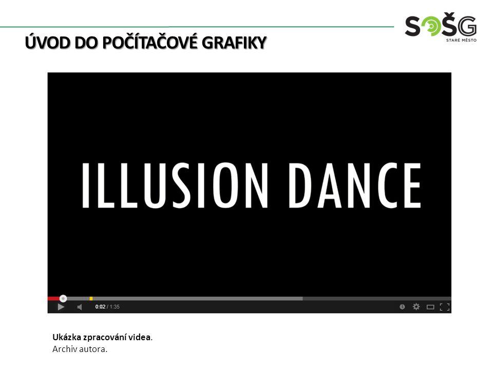ÚVOD DO POČÍTAČOVÉ GRAFIKY Ukázka zpracování videa. Archiv autora.