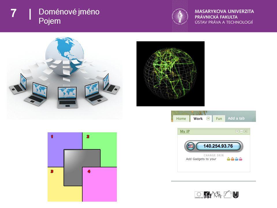 18 Rozcestník Doménové jméno Pojem Struktura >> Funkce << Správa doménových jmen Registrace doménového jména