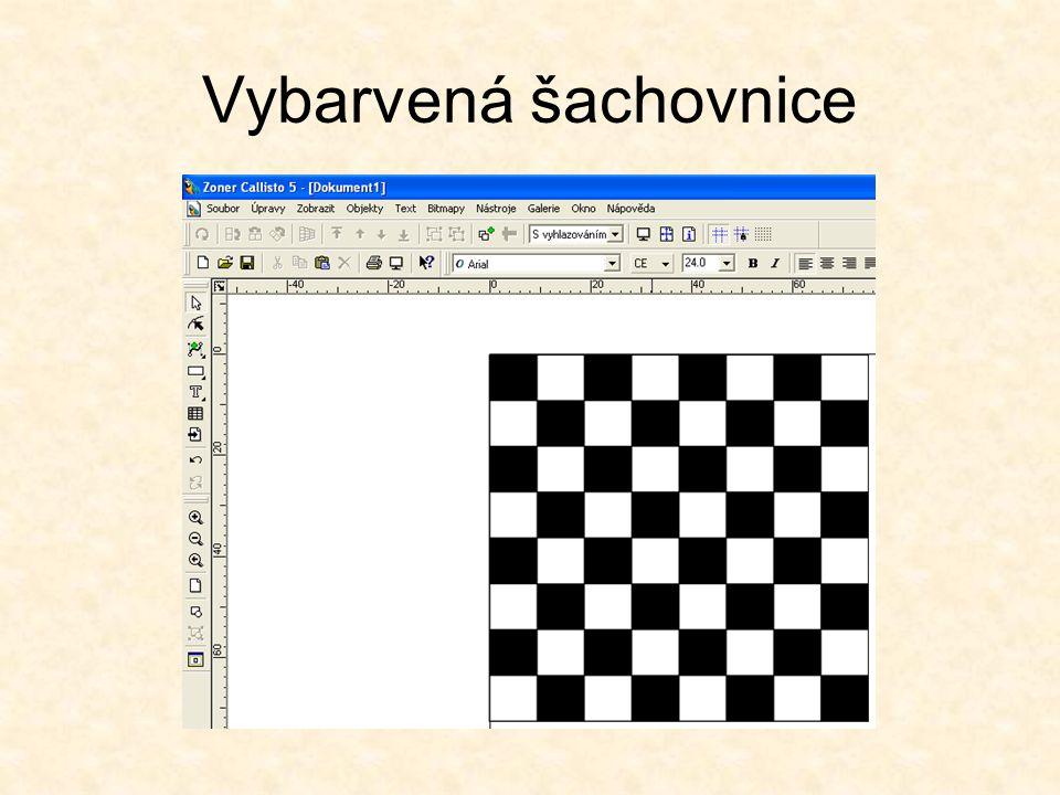 Vybarvená šachovnice