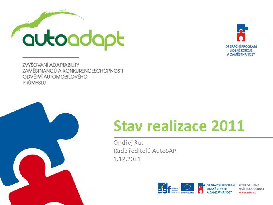 Stav realizace 2011 Ondřej Rut Rada ředitelů AutoSAP 1.12.2011