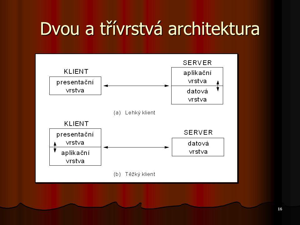 16 Dvou a třívrstvá architektura