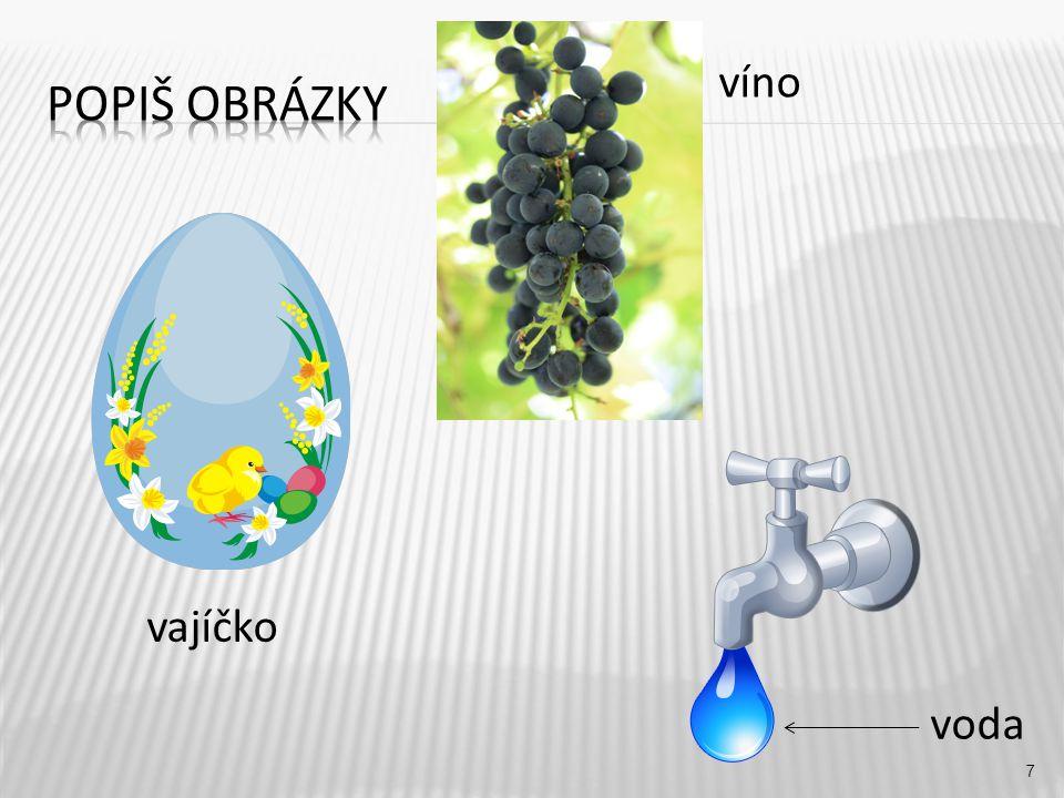 víno 7 vajíčko voda