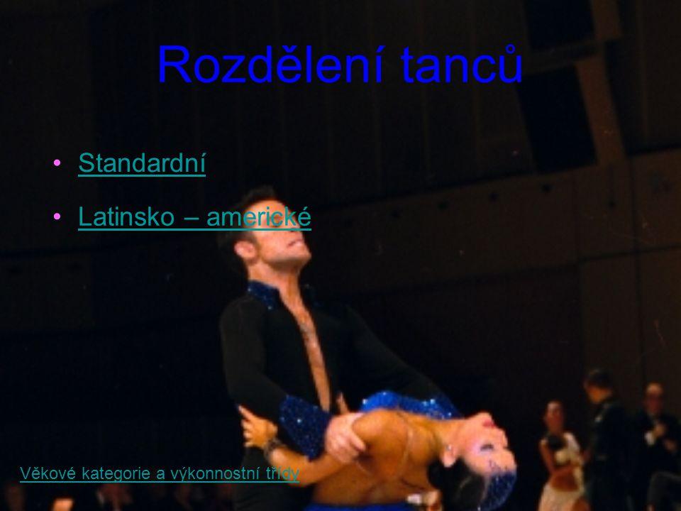 Standardní tance Waltz Tango Valčík Slowfoxtrot Quickstep Zpět na rozdělení tanců