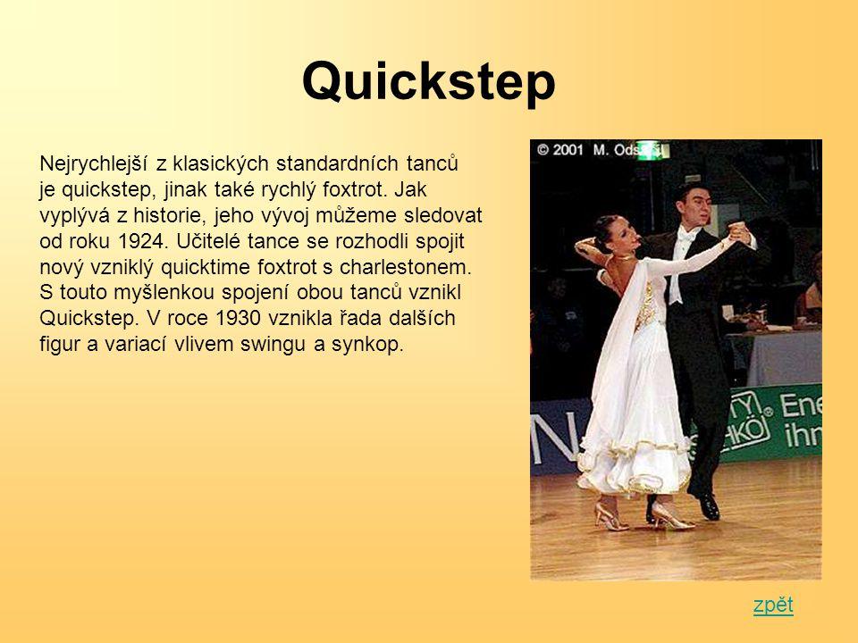 Latinsko-americké tance Samba Cha – Cha Rumba Paso – Doble Jive Zpět na rozdělení tanců