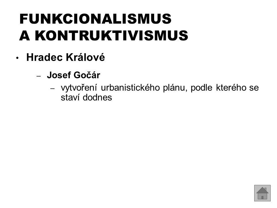 Hradec Králové – Josef Gočár – vytvoření urbanistického plánu, podle kterého se staví dodnes FUNKCIONALISMUS A KONTRUKTIVISMUS