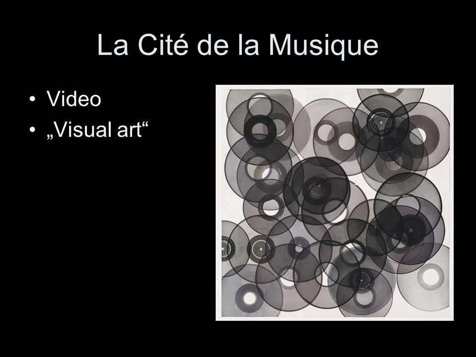 "La Cité de la Musique Video ""Visual art"