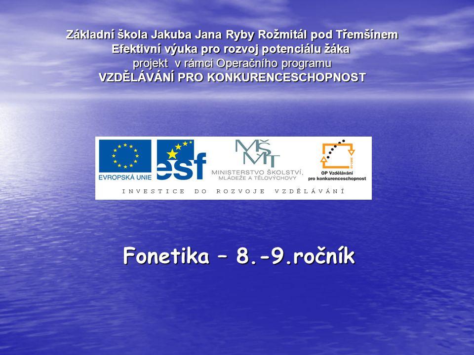 Výslovnost fonetické abecedy naleznete na internetové stránce: http://www.britishcouncil.org/parents-help- pronunciation.htm