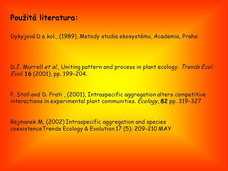 Dykyjová D a kol., (1989), Metody studia ekosystému, Academia, Praha D.J.