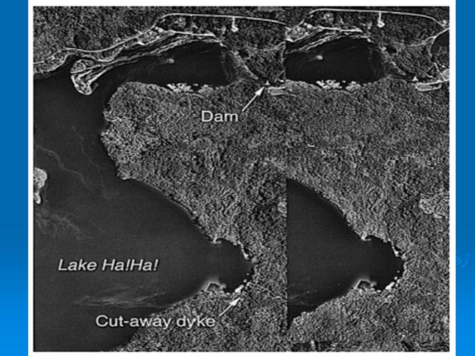 Odvodnění jezerní nádrže Ha!Ha.