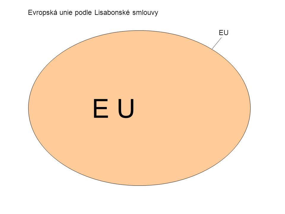 E U Evropská unie podle Lisabonské smlouvy