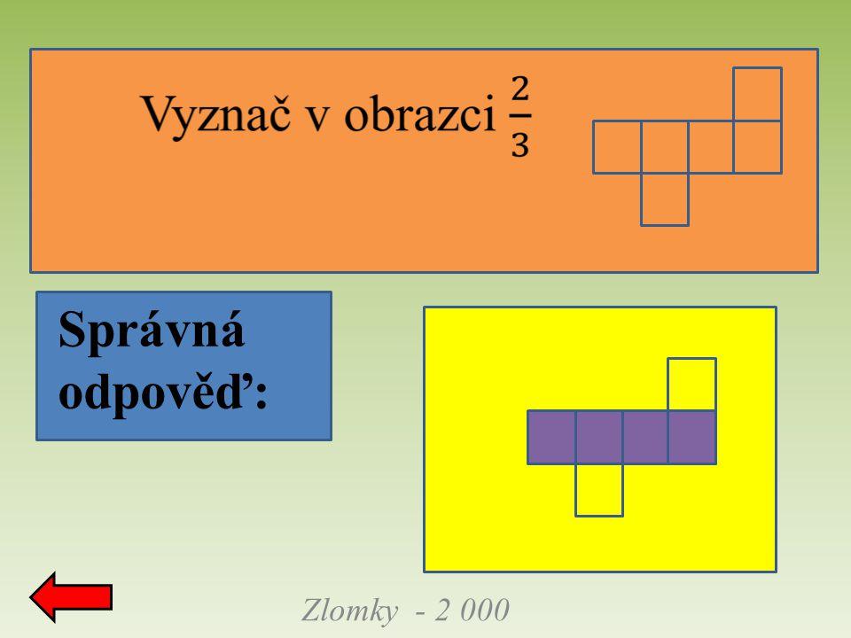 Zlomky - 2 000 Správná odpověď: