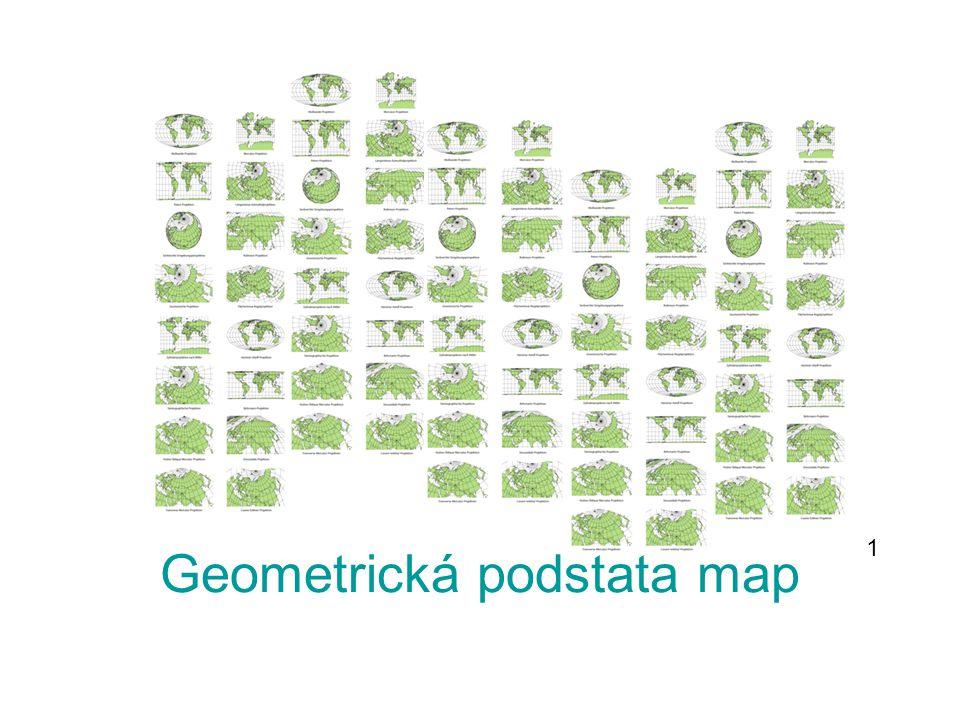 ZÁKLADNÍ POJMY KARTOGRAFIE - věda, která se zabývá zhotovováním a studiem map MAPA - zobrazení zemského povrchu do roviny ve zmenšené podobě KARTOGRAFICKÁ ZOBRAZENÍ – způsoby, kterými zobrazujeme zemský povrch do roviny