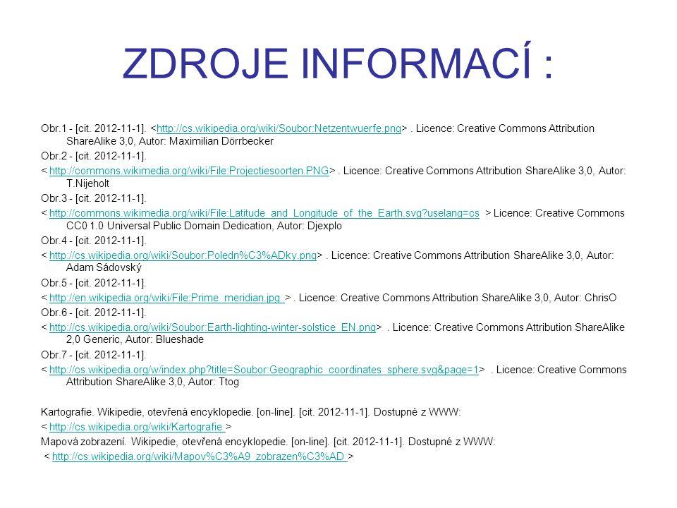 ZDROJE INFORMACÍ : Obr.1 - [cit. 2012-11-1].. Licence: Creative Commons Attribution ShareAlike 3,0, Autor: Maximilian Dörrbecker Obr.2 - [cit. 2012-11