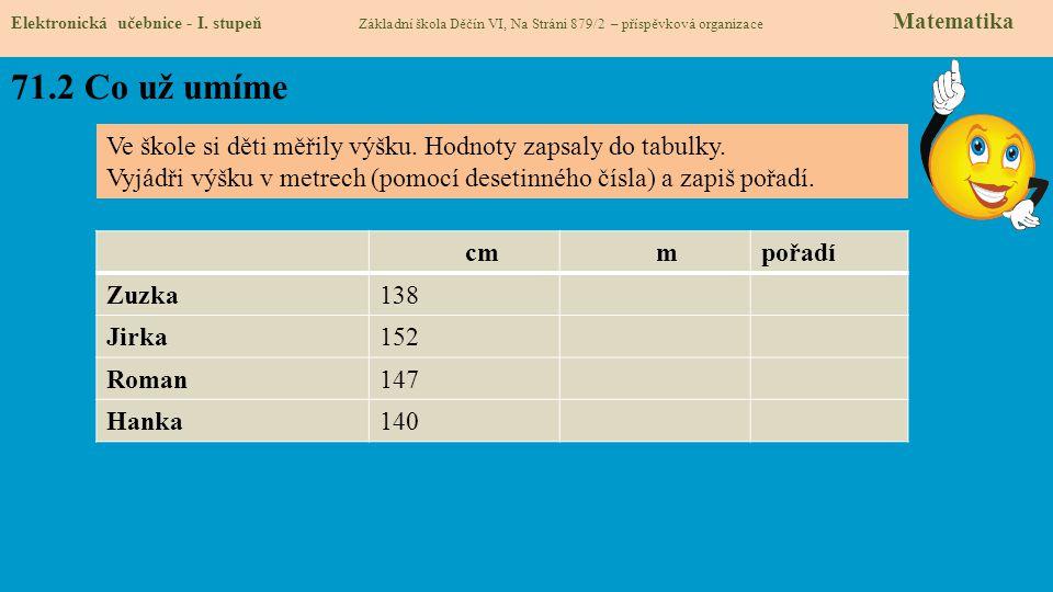 71.3 Co si řekneme nového Elektronická učebnice - I.