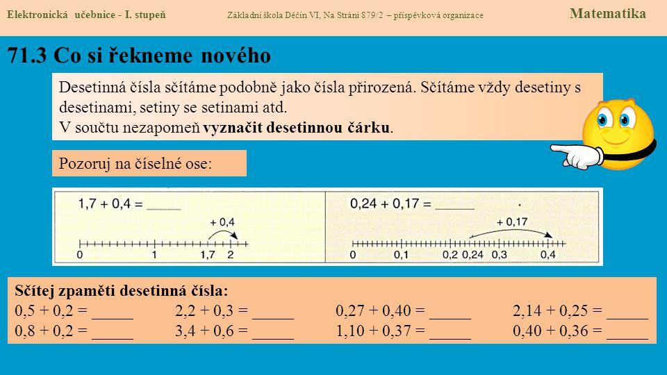 71.4 Nové termíny a názvy Elektronická učebnice - I.