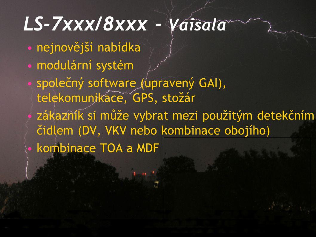 LS-7xxx/8xxx - Vaisala nejnovější nabídka modulární systém společný software (upravený GAI), telekomunikace, GPS, stožár zákazník si může vybrat mezi