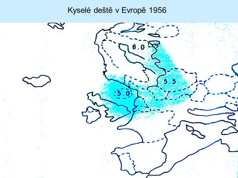 Kyselé deště v Evropě 1956