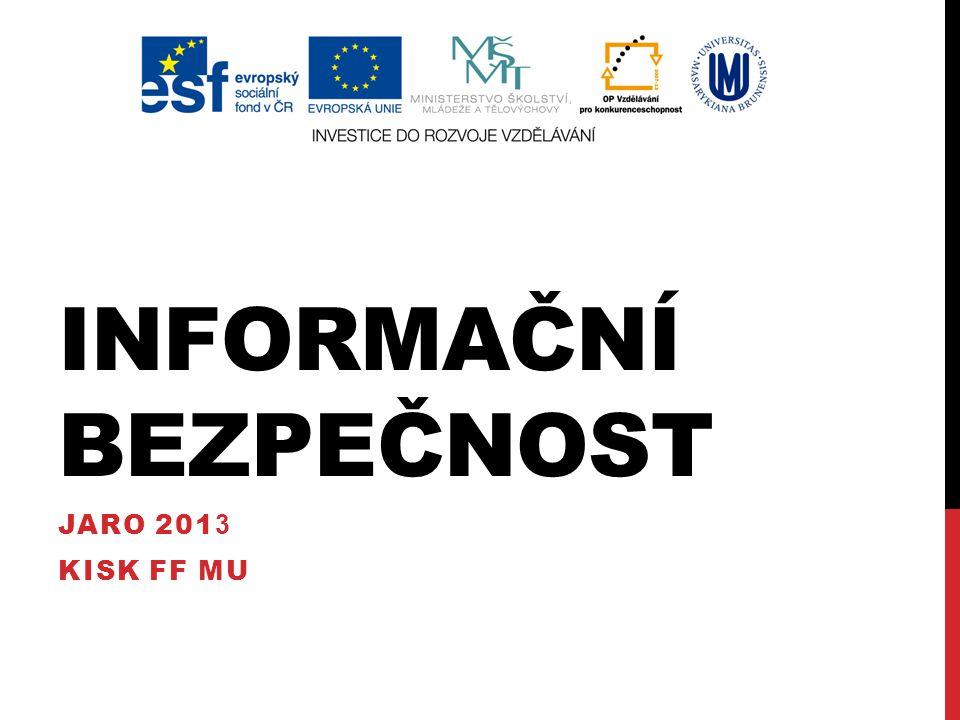 INFORMAČNÍ BEZPEČNOST I.etika I. gramotnost I. chování I.