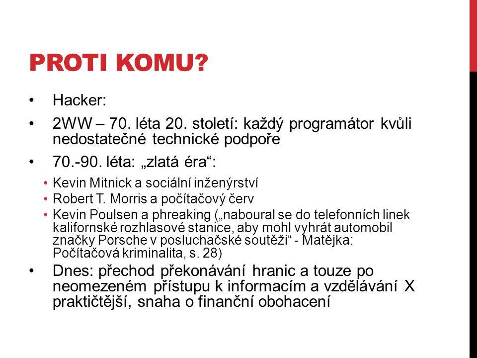 PROTI KOMU. Hacker: 2WW – 70. léta 20.