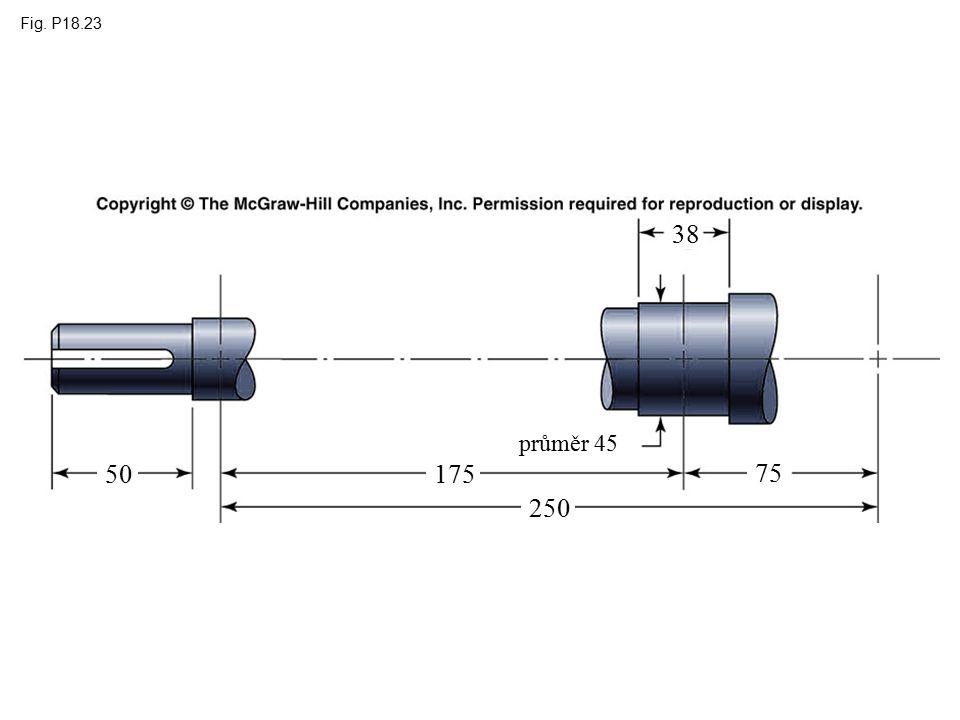 Fig. P18.23 průměr 45 250 175 75 50 38