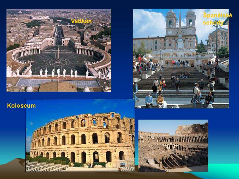 Španělské schody Koloseum Vatikán