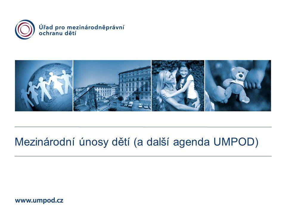 Mgr. Michaela Janočková Mezinárodní únosy dětí (a další agenda UMPOD)