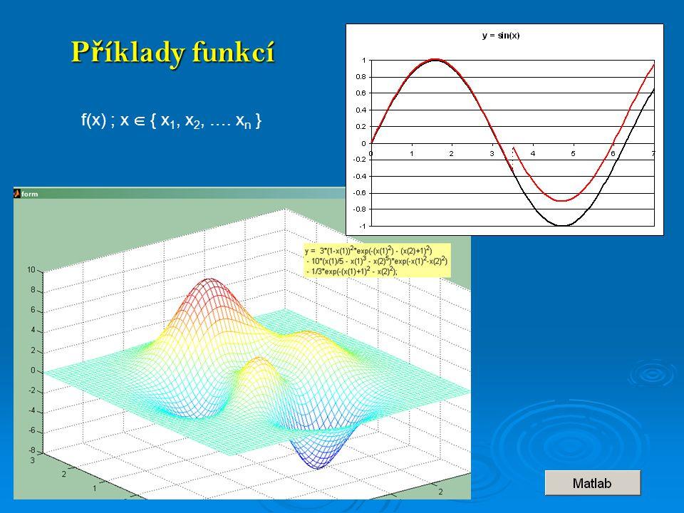 P ř íklady funkcí f(x) ; x  { x 1, x 2, …. x n }