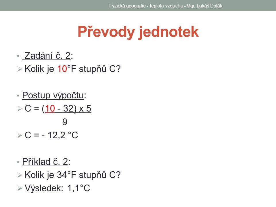 Fyzická geografie - Teplota vzduchu - Mgr. Lukáš Dolák Meteorologická budka