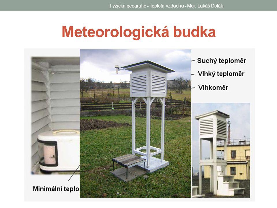 Fyzická geografie - Teplota vzduchu - Mgr.Lukáš Dolák Průměrná denní teplota vzduchu Příklad č.