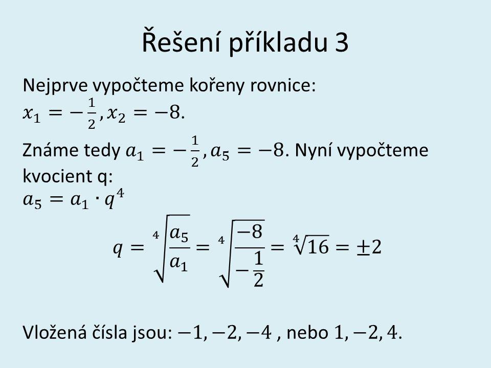 Řešení příkladu 3