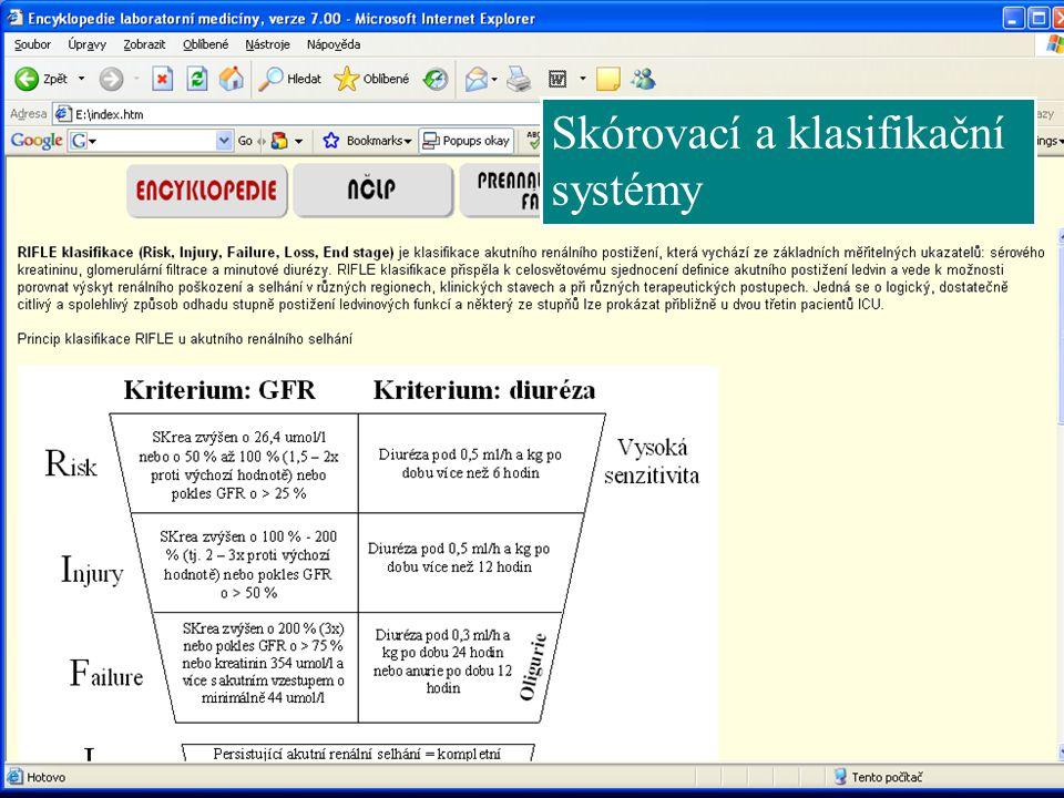 Skórovací a klasifikační systémy