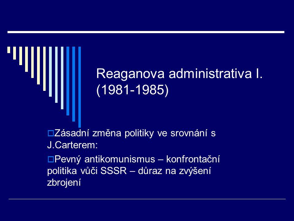Reaganova administrativa I.