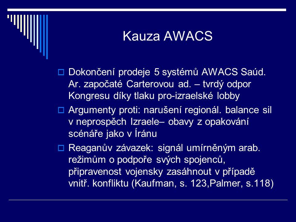 Kauza AWACS  Dokončení prodeje 5 systémů AWACS Saúd.